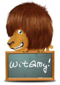 lew z tablicą